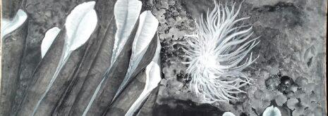 deep-sea artwork by Yves Henocque, the tube worm Riftia