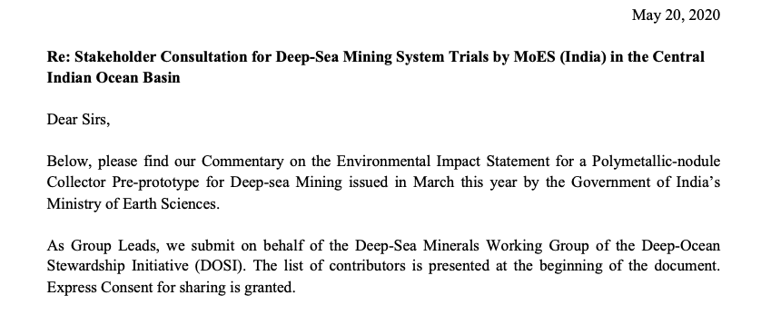 DOSI commentary deep-sea mining Indian Ocean
