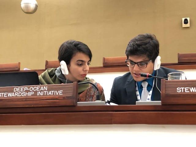 Maila Guilhon and Sergio Cambronero deliver interventions at the ISA