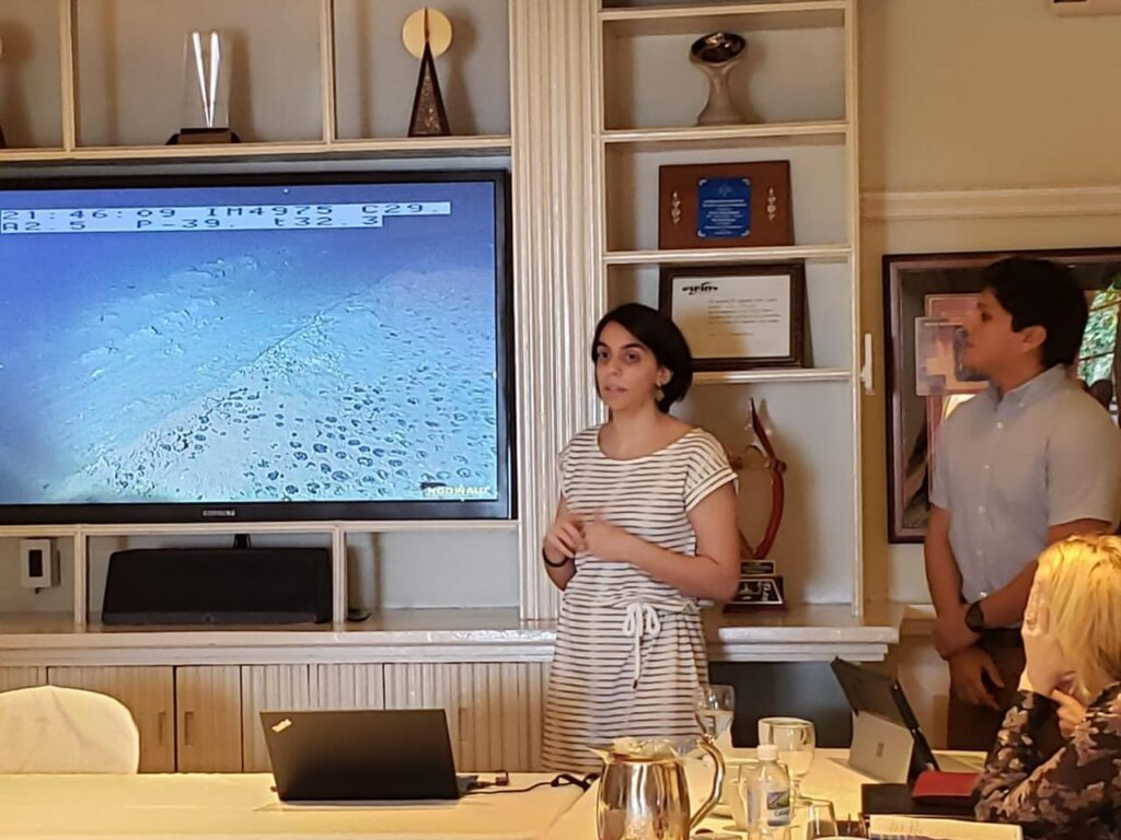 Maila Guilhon presents at an ISA side-event for GRULAC members in 2019
