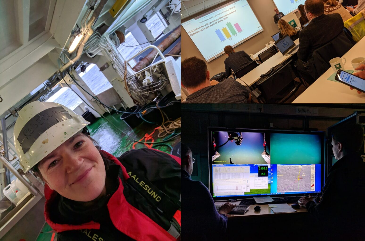 Deep-sea ecologist Rebecca Ross at work on the MAREANO habitat mapping project in Norway